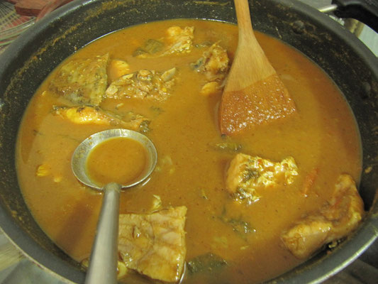 Fischcurry homemade!
