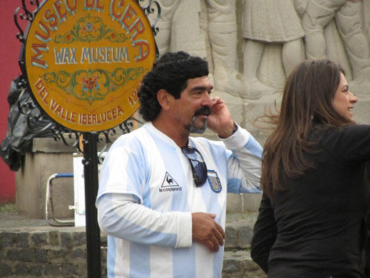 Maradonna-Double in Boca.