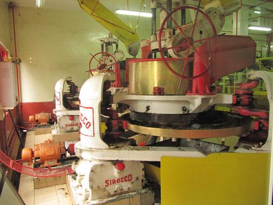 Ein Teilschritt im Prozess der Teeherstellung.