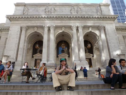 Die New York Public Library, also die Stadtbücherei von New York.