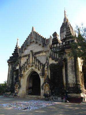 Was ein Eingangstor vom Shwe-Gu-Gyi-Tempel.