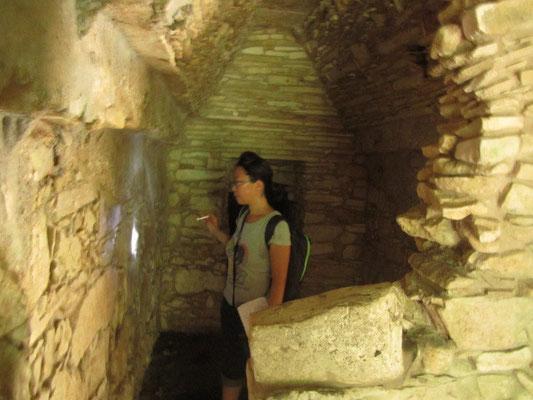 Inspecteuse Chihi hat sich gleich nach dieser Untersuchung ihre Birne an einem ruinierten Torbogen angehauen.