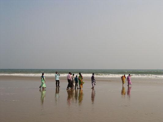 Indische Touristen beim Fotoshooting.