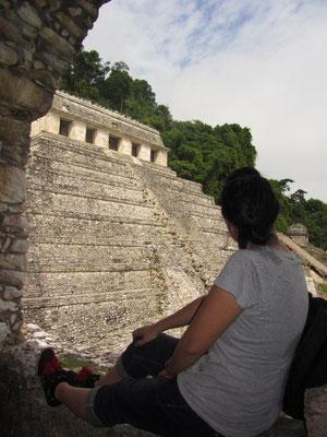 Blick auf den Templo de las Inscripciones. (Palast)