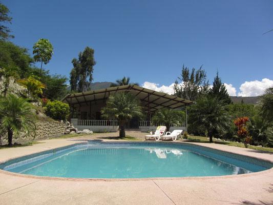 Der Pool unseres Ferienhauses.