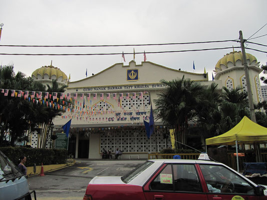 Der größte Sikh-Tempel Südostasiens.