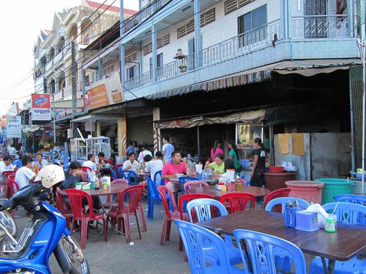 Ein Straßenrestaurant.