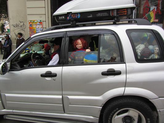 Hier fährt Chucky die Mörderpuppe mit.