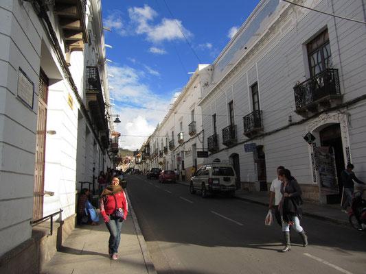 In den Straßen von Sucre.