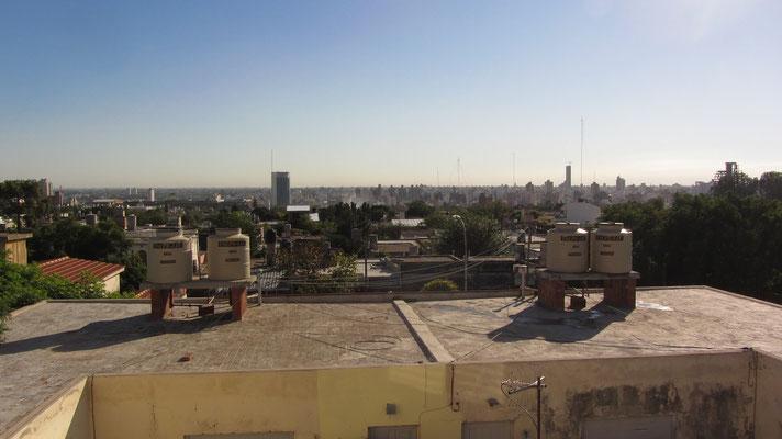 Blick vom Hausdach unseres ersten Gastgebers in Cordoba.