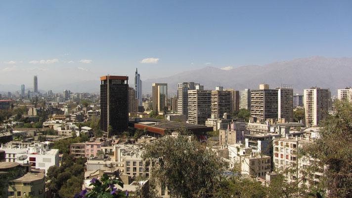 Blick vom Cerro Santa Lucia.
