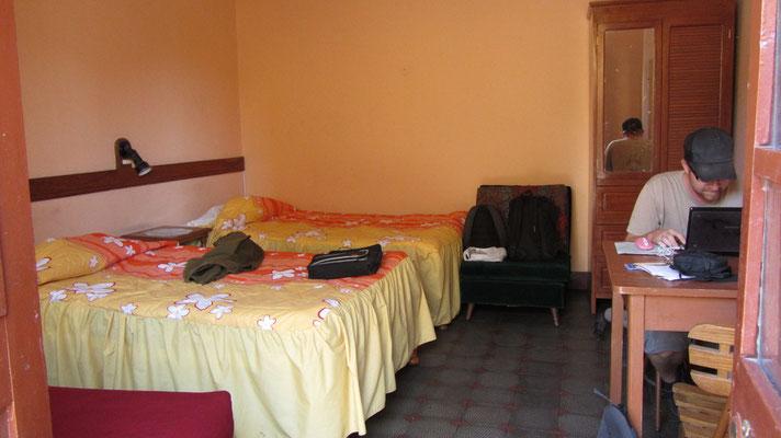 Unser Zimmer in Arequipa. Ein super Hostel, leider auch für Bettwanzen zu empfehlen.