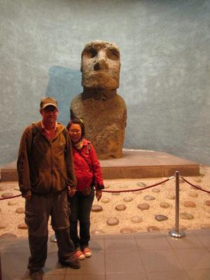 Original Moai von den Osterinseln.