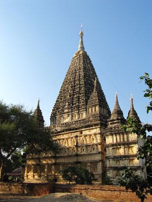 Ein Nachbau des berühmmten Tempels in Bodhgaya.