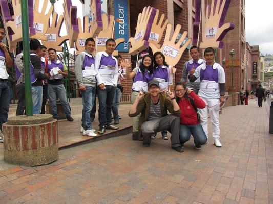 Wir unterstützen eine Studentendemonstration.