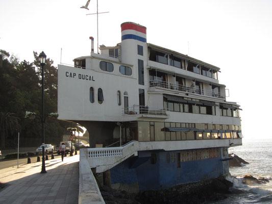 Das berühmte Schiffshotel Cap Ducal.
