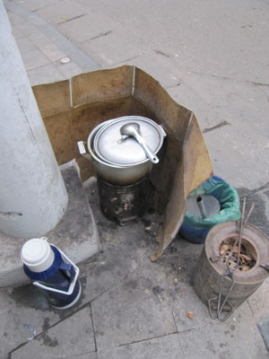 Straßenküche.