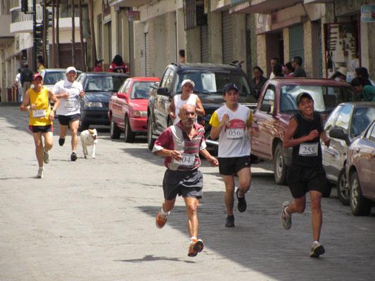 Wettläufer in der Satdt.