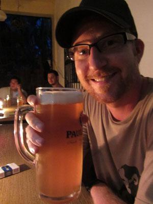 Selbstberautes, deutsches Bier schmeckt erst recht in Honduras.