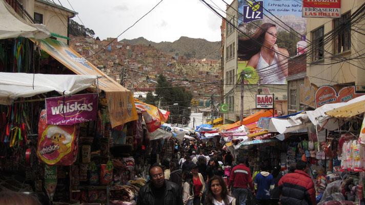 Auf dem Markt in La Paz.