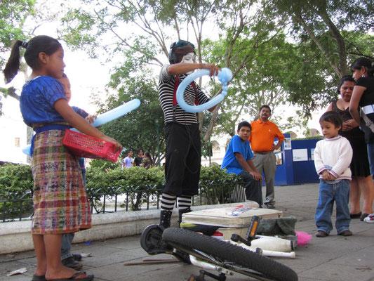 Ballonkünstler im Zentralpark.