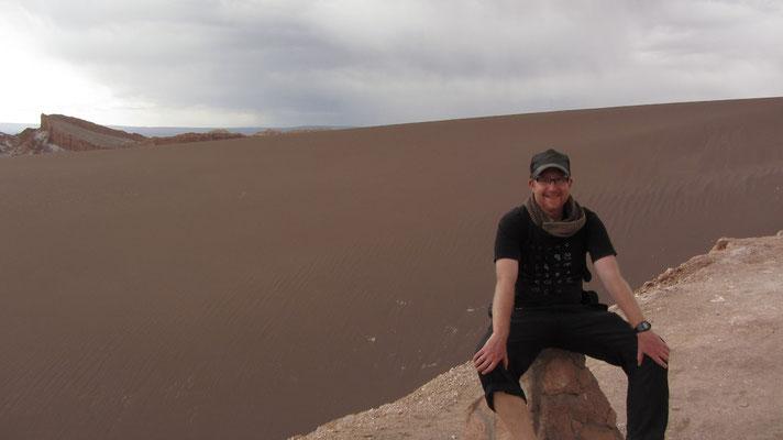 Eine riesige Sanddüne.