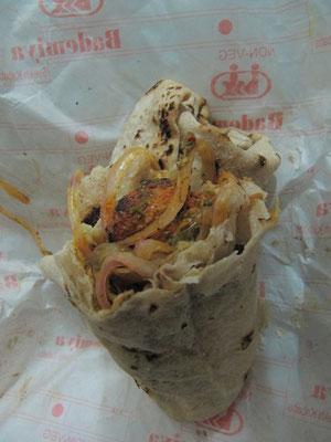 Chicken Tikka Roll. Indische Muslims wissen wie Fleisch zubereitet sein will.