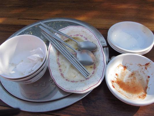 Es war unbeschreiblich gut. Essen wie in Seoul und das in einem Hinterhof in Encarncion.