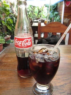 Coca Cola im populärsten Restaurant Copans.