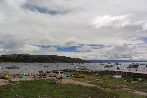 Der Titicaca-See.