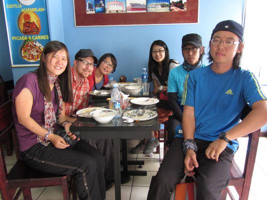 Koreanische Reisegenossen.