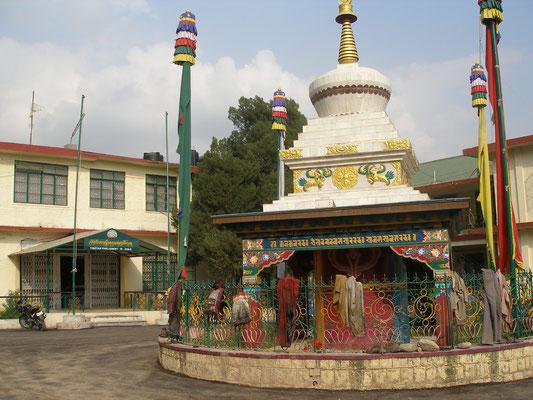 Vor dem Exil-Tibetischen Parlament.