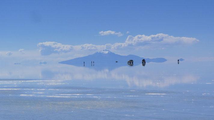 Der Salzsee ist der größte natürliche Spiegel der Welt.