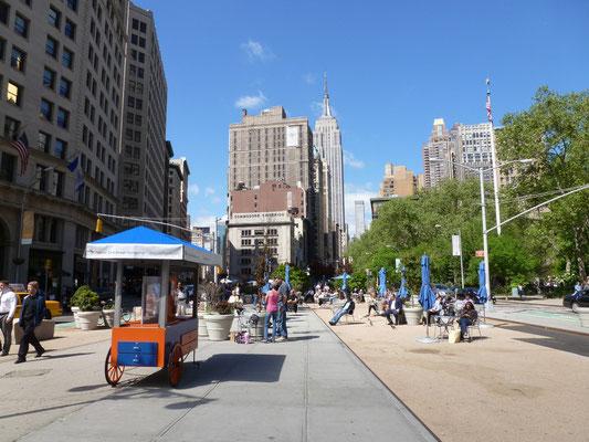 Flatiron Public Plaza.