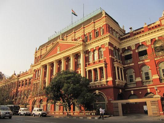 Das Writers' Buliding. So viel Geschichte in einem Gebäude. Ursprünglich erbaut für die Büroangestellten der East India Company. Heute wird es weiterhin als Verwaltungsgebäude genutzt.