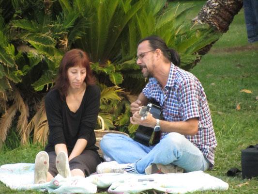 An Wochenenden ist der Parque General San Martin beliebt bei den Einheimischen.