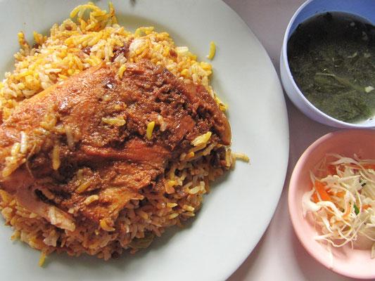 Indisches Chicken Biryani nahe der Perfektion.