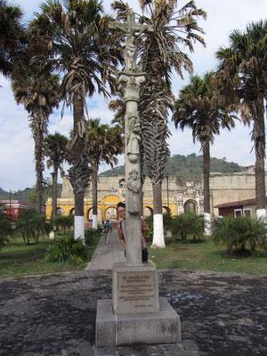 In einem der zahlreichen kleinen Parks der Stadt.