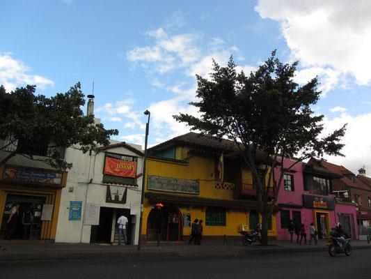 Straße in Chapinero.