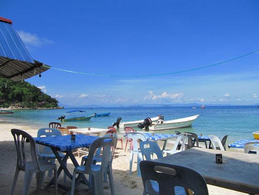 Ein Strandrestaurant.