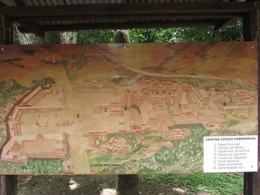 Karte von den Ruinen.