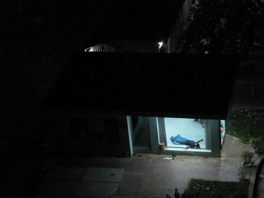 Warum auch nicht. (Blick vom Balkon unseres Apartements
