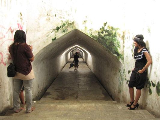 Teil des unterirdischen Geheimganges zur Moschee.