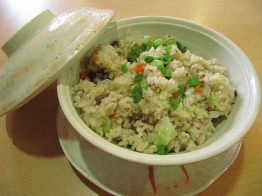 Chinesischer, gebratener Reis in der führenden chinesischen Fastfood-Kette.