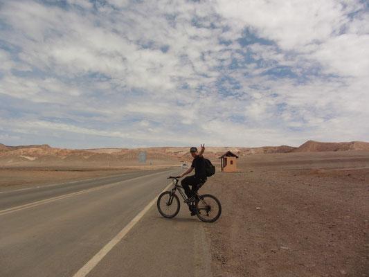 Beginn der Tagestour mit dem Mountainbike ins Valle de Luna (Mondtal).