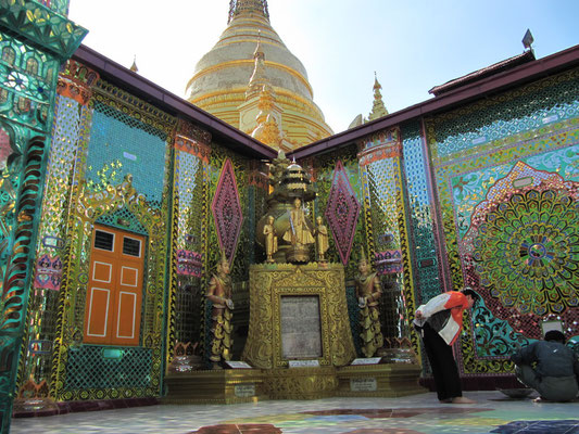 Farbenpracht im Tempel.