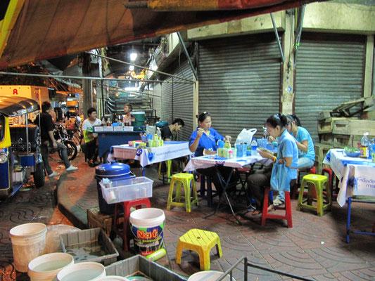 Essen in Chinatown.