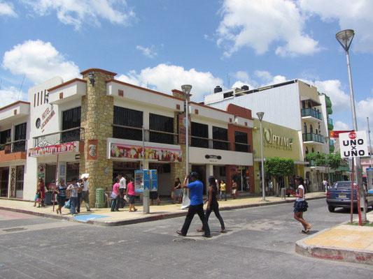 Die neue Hauptstraße in Palenque.