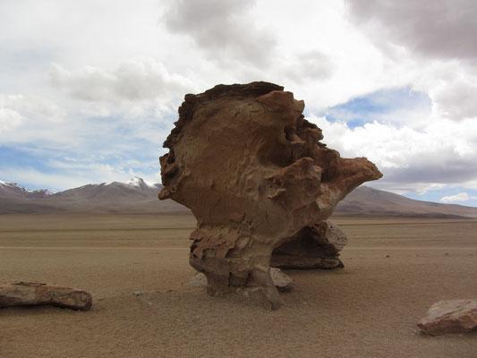 Bizarre Steinformation in der Dali-Wüste.