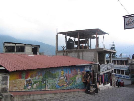 Wandmalerei auf der Straße zum Pana-Dock.